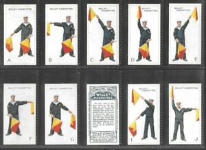 "WILLS 1911 INTRIGUING ( SIGNALLING ) FULL 50 CARD SET """"  SIGNALLING SERIES  """""