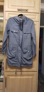 CLEMENTS RIBEIRO Light Blue Coloured Hooded Coat/Jacket Size Small