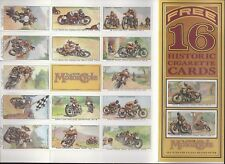 CLASSIC MOTOR CYCLE-FULL SET- MOTOR RACES 1931 (OGDENS REPRINT 16 CARDS) EXC