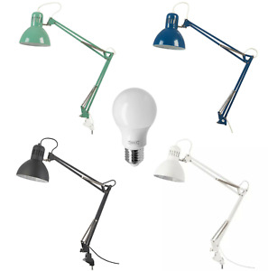 NEW IKEA TERTIAL Work Lamp Adjustable Arm Table Lighter Desk Study with bulb.