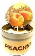 Peach 4oz All Natural Novelty Tin Soy Candle, Take It Any Where Approximate Burn