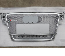 For Audi A4 B8 Front Grille S4 RS4 Honeycomb Mesh 2009 -12 Quattro Chrome Silver