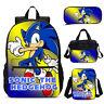 Sonic the Hedgehog Kids Backpack Schoolbag Insulated Lunch Bag Pen Case Lot