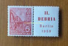 EBS East Germany DDR 1959 DEBRIA Stamp Show se-tenant MNH Michel 580 W Zd 19 **