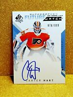 2018-19 UD SP AUTHENTIC CARTER HART FUTURE WATCH AUTOGRAPH /999 WITH 10 AUTO