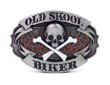 Boucle de ceinture tête de mort-pirate - Old Skool - BikER ( ceinturon)  France