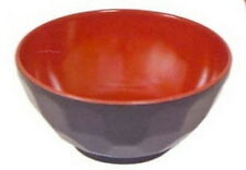 1x Black/Red Plastic Rice Miso Soup Bowl 4.75in #920-BR S-2373