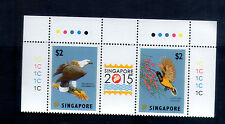 Singapore 2012 ,World Stamp Exhibition 2015,  Complete 2V  with Margin