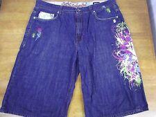 Ecko Unlimited Mens 40x14 Denim Jeans Shorts Pants Multi-Colored Designer Baggie