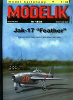 "PAPER-CARDBOARD MODEL KIT -Modelik- Jak-17 ""Feather"""