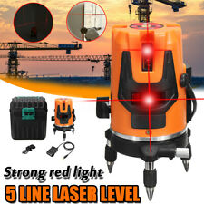 AU 5Line Laser Level 360° Rotary Cross Self Leveling Vertical Horizontal Measure