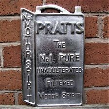 Pratts Oil Can Motor Spirit sign cast aluminium advertising petrol polish VAC214