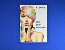 10 x A4 Portrait C Shape Menu / Poster Holder with Tape - PVC - Wall Mountable