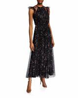 Jill Jill Stuart Floral Ruffle-Sleeve Tulle Dress Size 14