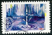 TIMBRE FRANCE  AUTOADHESIF OBLITERE N° 1237 / L'OUIE / SON D'UNE GOUTTE D'EAU
