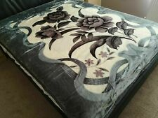 LARGE ULTRA PLUSH 2PLY BLANKET BED MINK SOFT THROW