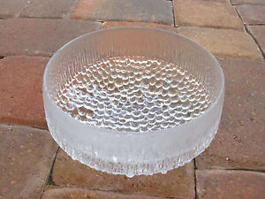 """Made in Germany Bubble Clear Crystal 3 Legged Decorative Bow  7.5""""Diameter~RARE~"""