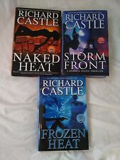 Richard Castle Lot of 3 Nikki Heat Books Storm Front, Naked Heat, Frozen Heat