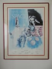 """""""Naval Aviation in Space"""" Ltd Ed Print Signed by Armstrong & 8 other Astronauts"""