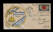 5/19/1938 Rockford, IL National Air Mail Week cover AUTOGRAPHED by Postmaster