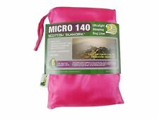 Chozas saco de dormir enganchada micro tipo Silk sleeping bag Liner 140g Pink Power