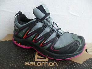 Salomon Sportschuhe Halbschuhe Sneakers  XA PRO 3D GTX  grün/lila Neu!!!