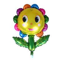 66*92cm Cute Sunflower Aluminum Foil Balloons Pillar DIY Party Decoration OZ