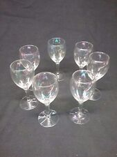 Set of 6 Iridescent Wine Glass Goblets