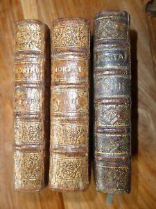 1659,ESSAIS DE MICHEL DE MONTAIGNE,3 TOMES,RELIURES,BON ETAT