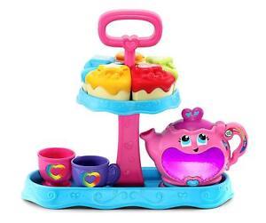 Leapfrog Musical Rainbow Tea Party Interactive Tea Set Teacups Teapot Cake Piece