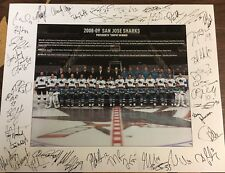 2008-09 San Jose Sharks team photo print 11x14 SEASON TICKET HOLDER EXCLUSIVE