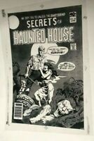 Secret of Haunted House Vampires Horror Terror Cover Production Art Acetate rare