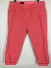 J Crew Dress Pants Size 12 Pink Scout Rolled Cuff Casual Cropped 32x24 10 FLAW