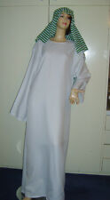 Men's Arab Sheikh Fancy Dress Costume  Arabian Robe Gown M Used