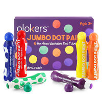 Glokers Dot Markers Washable 6 Colors Children Art Supply - NON-TOXIC
