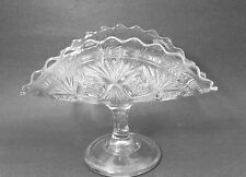 "1899 BRYCE GLASS CO - EAPG ""SHEAF & DIAMONDS"" - FOOTED BANANA STAND BOWL"