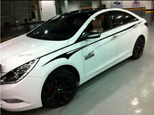 Graphic Vinyl Auto Waist Line Car Sticker Stripe Decal For Hyundai Sonata 2 PCS