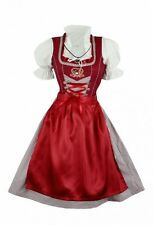 Dirndl Trachtenkleid Minidirndl 60 cm mit Bluse 3 tlg. Set Bordeaux Rot - Iris