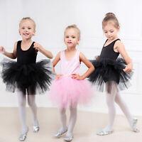 Girls Ballet Dance Dress Costume Kids Gymnastics Leotard Tutu Skirt Dancewear