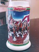Budweiser Anheuser Busch Inc Beer Mug 1998 Holiday stein Collectors Series Grant