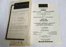 VINTAGE BROADWAY PLAYBILL #107 - PIPPIN STEPHEN SCHWARTZ