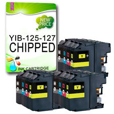 12 CHIPPED Ink Cartridge Replace For LC127 MFC-J4510DW MFC-J4610DW MFC-J4710DW
