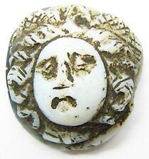 Gorgoneion Hardstone Cameo of Medusa Nicolo 2nd - 3rd century A.D. Ancient Roman