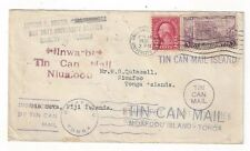 1936 Gainesville Florida to Niuafoo Tonga Islands, Tin Can Mail, Nukualofa Rare
