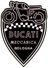 "#k293 (2) 2"" Ducati Meccanica Racing Classic Vintage Decal Sticker LAMINATED"