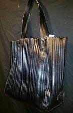 Amazing Calvin Klein Creased Black Leather Tote