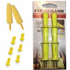 6x Fackelmann Stack-able Corn on the Cob Needle Holder to Hold Hot CORN on COB