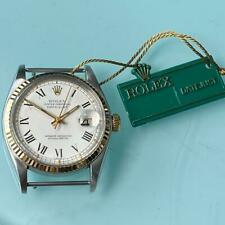 ROLEX DATEJUST REFERENCE 16013 STAINLESS STEEL AND WHITE GOLD WATCH 100% GENUINE