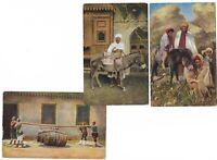 Egypt, Cairo - Daily Life - Three Old Postcards 569B