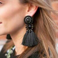 boucles d'oreilles Femme Bobo Mode Bijoux Vintage DropDangle Frange